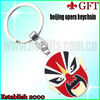 Cheapest and Cute mask keychain/metal keychain GFT-L249