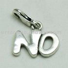 """No"" Word Shape Alloy Jewelry Charm"