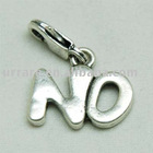 """No"" Word Shape Alloy Jewelry Charm"