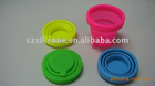 hot sale multi-function durable silicone foldable cup