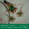 flowers inside the murano glass jewelry set