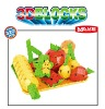 intelligence block of fruit,plastic building block toys