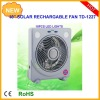 10inch multifunction rechargeable emergency solar fan with led light solar panel and radio