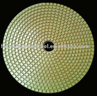 "4""(100mm) with 2.5mm dry flexible Diamond polishing pads for Terrazzo/Concrete/Engineered Stone/Porcelain/Quartz"