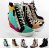 Top brand women high heel sneakers high top shoes