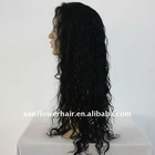 HOT!!! loose curl Indian remy hair full lace wig for black women