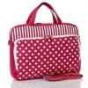 Pretty lady dots printing laptop bag