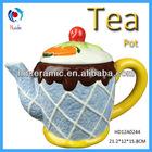 Cake designed ceramic watering teapot