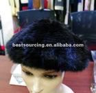 winter headwear real stripe mink fur hat hand knitted beret luxury fashion accessories unisex hat BS-1305