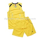 Low moq men basketball clothing dry fit man basketball suit