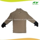 fashion wool sweater for kids' with shawl collar