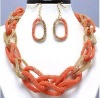 women's cristmas promotion chain necklace and earring sets