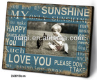 Antique Wooden Baby Photo Frame With Words