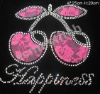 Rhinestone apple transfer design /heat transfer /rhinestone motif /