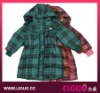 Girls Checked Long Down coat