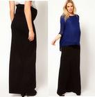 Maternity Chiffon Pleated Maxi Long Skirt