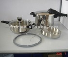100% safty gurantee 304 stainless steel cookware sets suitable to all stoves ASA22-4+6L