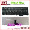 Hot Sale Laptop Keyboard for R620 R530 RU Version Black Notebook Keyboard Whoelsale