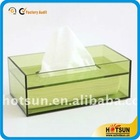 Elegant colored acrylic tissue box