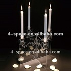 Transparent acrylic candle holder with elegant design