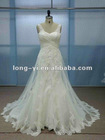2013 A-line embroidery crepe bridal dress