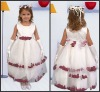 K4513 Lovely and Beautiful Ankle-length Satin Flower Girl Dress