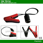 Battery clip to female socket car charger molding type