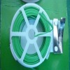 Green plastic coated garden wire