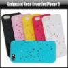 NEW 3D Embossed Hollow Rose Flower Hard Cover Case For iPhone 5 5G, YAP330A