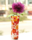 Foldable single flower vase