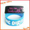2013 NEW ! Logo engraved with color filled / debossed with color customized inch silicone rubber bracelet