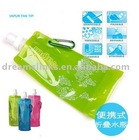 Guaranteed 100% Portable plastic foldable sport travel water bottles Multi-colors 480ml GREEN