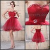 2013 Fashion Red Sweetheart A-line Short Cocktail Dresses For Woman