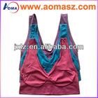 Hot sale ladies sports bra, Seamless Color Ah Bra As Seen On Tv