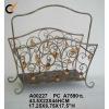 antique metal magazine basket