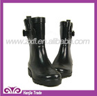 2012 Black Rubber Rain Boots with Buckle for Kids