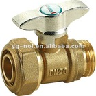 brass ball valve T handle