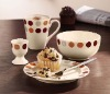 4pcs modern ceramic dinnerware set