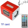 Kaidaer MP3 Player and Miniature Speaker , Support TF card and USB Flash disk