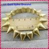 2012 Hot Sale Light Gold Punk Style Spike Hedgehog Rivet Bracelet, Fashion Stretch Adjustable Rivet Spike Bracelet