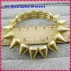 2012 Hot Sale Light Gold Punk Style Spike Hedgehog Rivet Bracelet, Fashion Stretch Adjustable Rivet Spike Bracelet