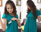 100% COTTON COMFORTABLE SUMMER NURSING DRESS