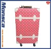 Top PVC material 4 wheels full of the old taste vintage luggage