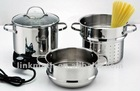 Electric steamer pot set