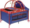 luxury new style baby bed baby playpen carrier playyard baby product T30 with toy bar and canopy