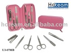 7 pc cosmetic tool kit / cosmetic tool set with pink box