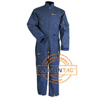 Flame retardant Coverall with waterproof acid proof anti static SGS standard Manufacturer