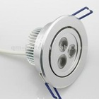 cut hole 75mm 3*1w led down light in home ceiling
