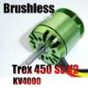 rc helicopter Brushless Motor 4000KV motor FOR Align 450 size