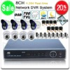 Security CCTV System 8CH H.264 Standalone DVR, 8X 700TVL EFFIO SONY CCD IR Nightvision Outdoor Camera